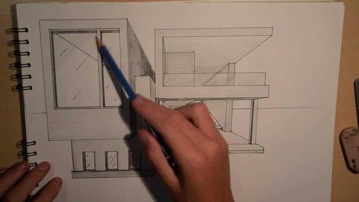 ARCHITECTURE | DESIGN #2: DRAWING A MODERN HOUSE (1 POINT PERSP