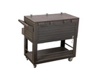 80QT cooler cart has enough storage space