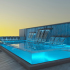 What material is used for the infinity pool?