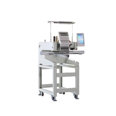 What are the functions of the single-head embroidery machine?