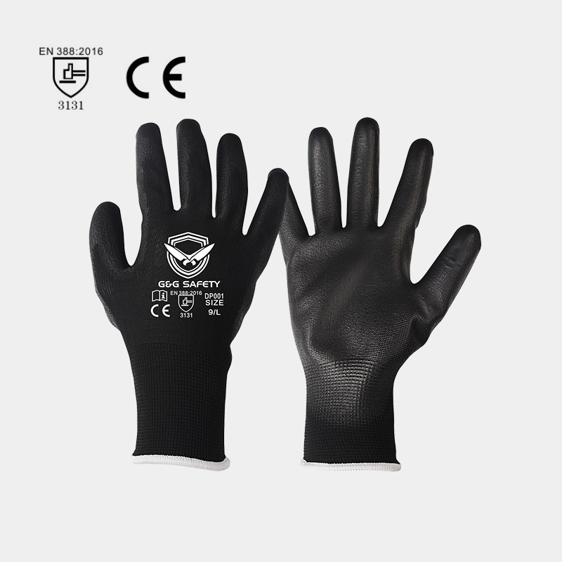 Performance of PU safety gloves