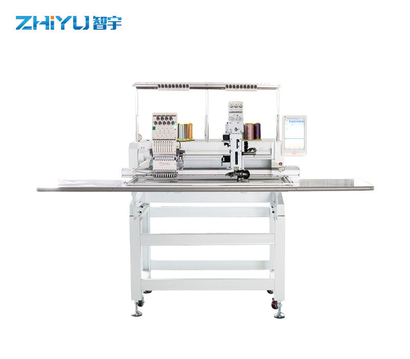 What are the functions of the computerized embroidery machine?