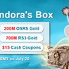 Join in RSorder Pandora's Box to Obtain Free RSGold & $15 Voucher