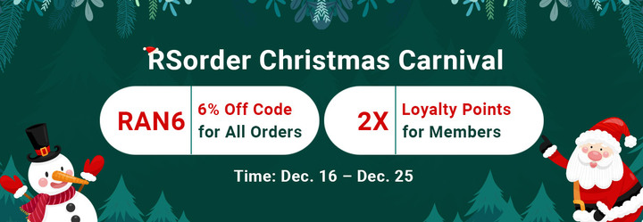 RSorder Xmas Carnival Event: Acquire 2007 Runescape Gold 6% Discount & 2X Loyalty Points