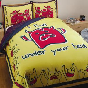 David & Goliath Monsters Duvet Set in Yellow and Blue