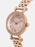 Women Rose Gold Embellished Analogue Watch